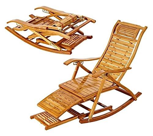 ZOUJIANGTAO Silla mecedora Sillón de madera Silla de verano Silla plegable de verano para tumbonas reclinables