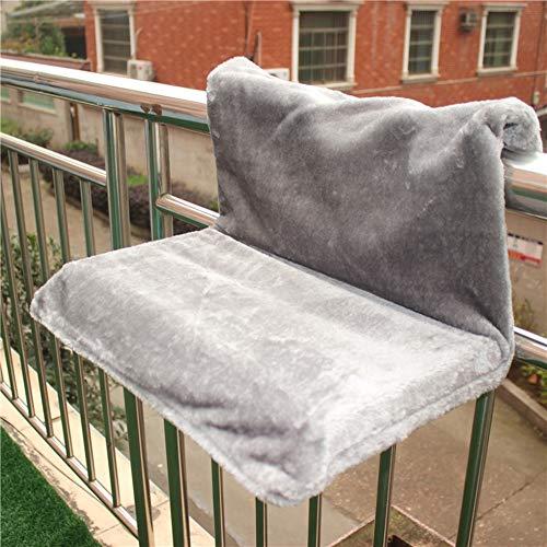 Hangmat met onderstel hangmat winterwarmer voor katten kleine dieren, met opvouwbaar stalen frame grijs