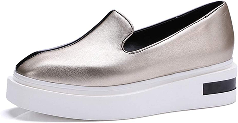 Frauen Plattform MüßIggäNger Schuhe Schuhe Schuhe Flache Quadratische Zehe Slip Ons Mischfarbe LäSsig Komfortable Dicke Untere Mokassins  8e83a1