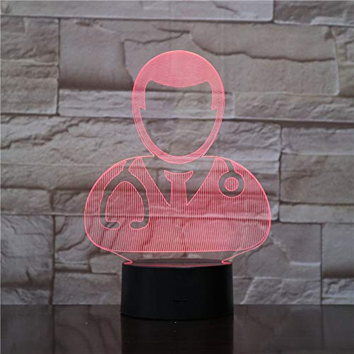 3D Table Lamp The Doctor and Nurse Pretty Present Children Atmosphere Led Night Light Table Lamp Visual Effect