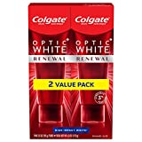 Colgate Optic Renewal Teeth Whitening Toothpaste with Fluoride, 3% Hydrogen Peroxide, High Impact, White, Mint, 6 Oz, 2 Pack