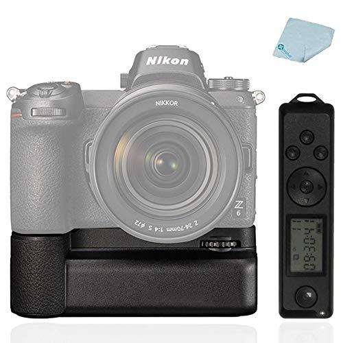 Mcoplus MCO-Z6Z7 Impugnatura verticale per fotocamere mirrorless Nikon Z6 Z7, ricambio come MB-N10, con telecomando wireless 2,4G, colore: Nero