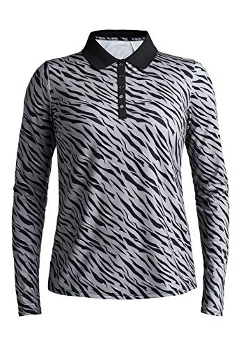 Röhnisch Achieve Golf Poloshirt Damen Grey Zebra XXL