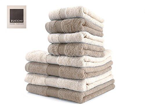 Set Asciugamano 8 Pezzi Zucchi Home Fashion VAR. Corda E Beige+ tavoletta Profumo Biancheria per armadi by biancocasa