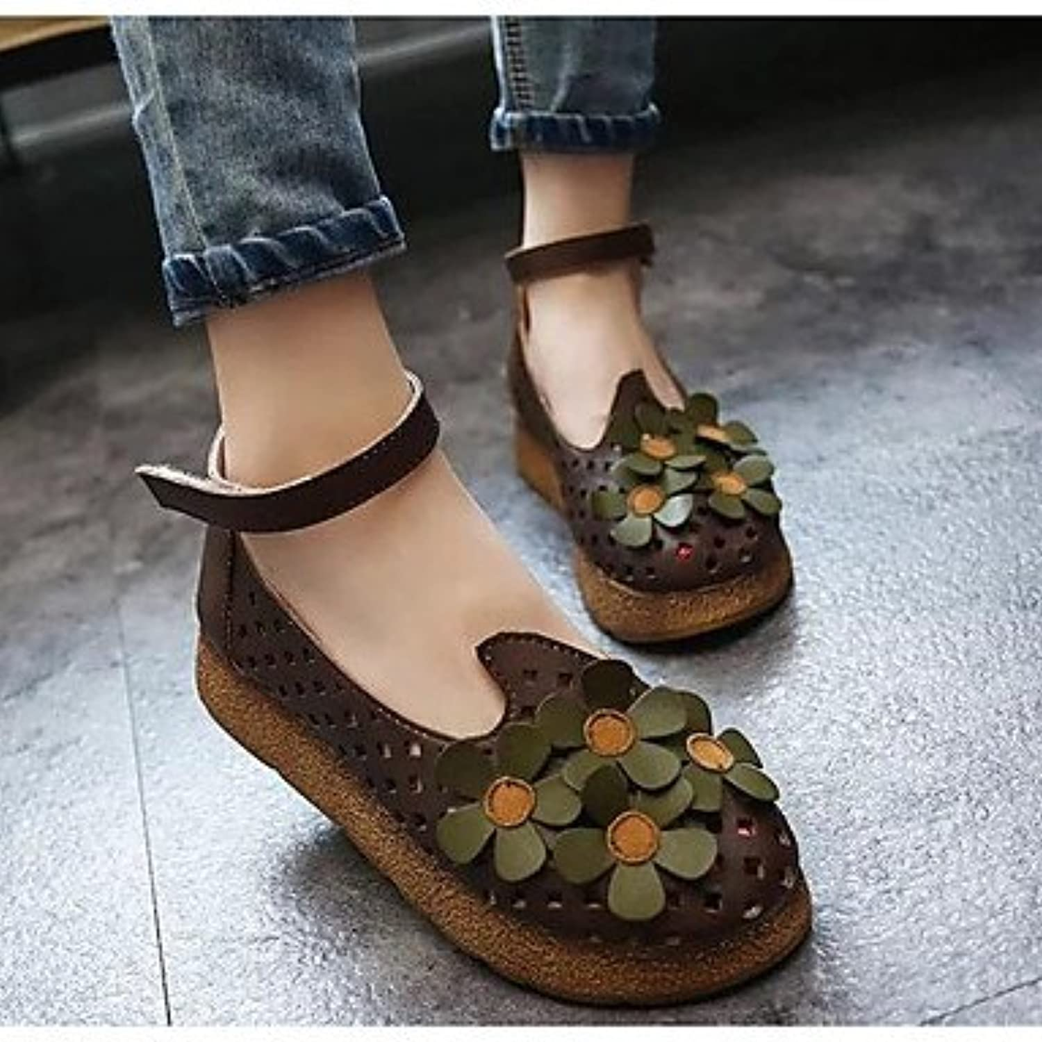 536d4f9a853b5 Women s Sandals Comfort PU Summer Casual Comfort Green Coffee ...
