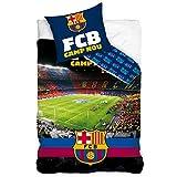 FCB FC Barcelona Camp NOU - Juego de Funda nórdica y Funda de Almohada (algodón), diseño del FC Barcelona
