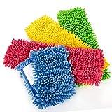 com-four 4X Funda de Repuesto para limpiadores de Suelo, Funda de Limpieza de felpilla de Microfibra para una Limpieza a Fondo de su Espacio Vital (Azul/Rosa/Amarillo/Verde)