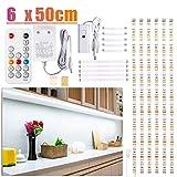 LED Unterbauleuchte, 3m Weiß LED Streifen, WOBSION SchrankLicht Küchenbeleuchtung, Helle...