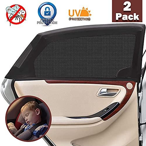 Tendine Parasole Auto Finestrino Laterale per Bambini ,2 Pezzi Universali Parasole Auto Bambini dell'Auto Block Raggi UV Anti-zanzara e...