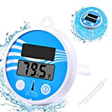 Floating Pool Thermometer Wireless - Swimming Pool Temperature Thermometer Easy Read, Solar Digital Pool Thermometer Shatter Resistant for Swimming Pools, Spas, Hot Tubs