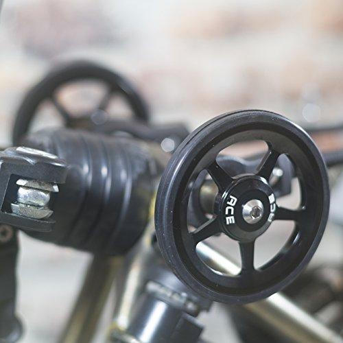 Super ligero fácil ruedas + tornillos de titanio para Brompton–en negro