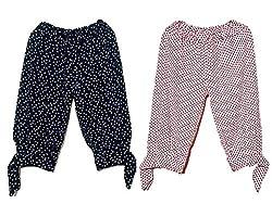 Womens Cotton 3/4th Capries (KPT5, Multicolour, Free Size)