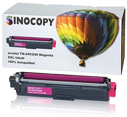 SinoCopy Magenta XXL Toner für Brother TN-242 TN-246 HL-3142 3152 3172 CW CDW DCP9017CDW - Magenta 2.200 Seiten TN 242 TN-242 TN 246 TN-246