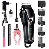 smilerr 12-teiliges professionelles Haarschneidemaschine für Katzen, Hunde, elektrisch,...
