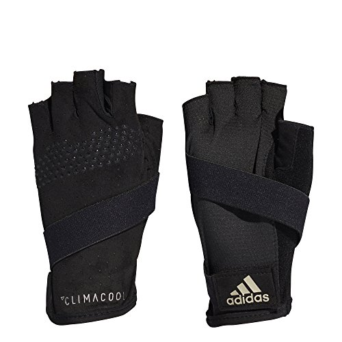 adidas Damen WOM Climacool Handschuh, Black/Cyber Metallic/Matte Silver, S
