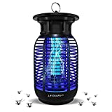 Lediary Bug Zapper Outdoor, 15W 4300V High Powered Electric Mosquito Killer Indoor, Waterproof Fly Killer for Home, Kitchen, Backyard - EPA Registered