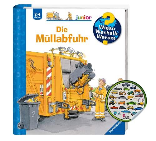 Buchspielbox Varför? Varför? Varför? junior: Sophämtningen (band 16) + barnfordonsklistermärken   klaff barnbok från 2 år
