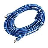 Fransande - Cable de extensión de impresora USB A macho a USB B macho (10 m)