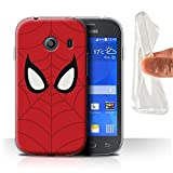 Hülle Für Samsung Galaxy Ace Style Superheld Comic-Kunst Spider-Man Maske Inspiriert Design Transparent Dünn Flexibel Silikon Gel/TPU Schutz Handyhülle Case