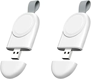 Wireless iWatch Charger, 2-Pack USB Portable Magnetic Apple Watch Wireless Charger Compatible for Apple Watch Series 6 SE 5 4 3 2 1 Nike+ 44mm 40mm 42mm 38mm