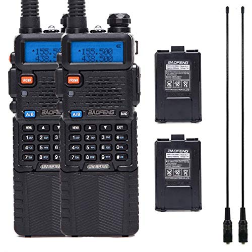 2 Pack Baofeng UV-5R High Power Two Way Radio Walkie Talkie Portable Ham Radio with 2Pcs 3800mAh Battery +2Pcs 771 Antenna. Buy it now for 79.99