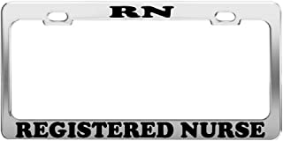 Product Express RN Registered Nurse Profession License Plate Frame CAR Accessories