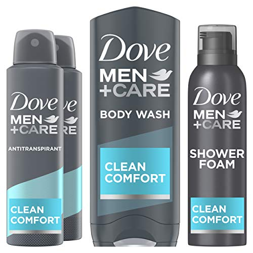 Dove Men+Care Clean Comfort Geschenkset - Anti-transpirant, Douchegel en Doucheschuim Cadeaupakket