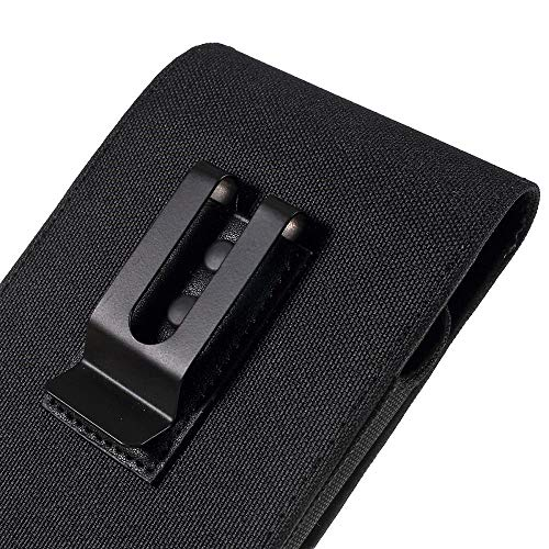 DFVmobile Hülle Metal Belt Clip Vertical Textile and Leather for MOBIWIRE TALA - Black