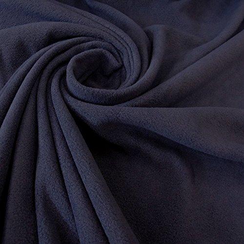 Stoff Meterware Fleece Polar - Fleece weich kuschelig dunkelblau marine Preis pro Meter