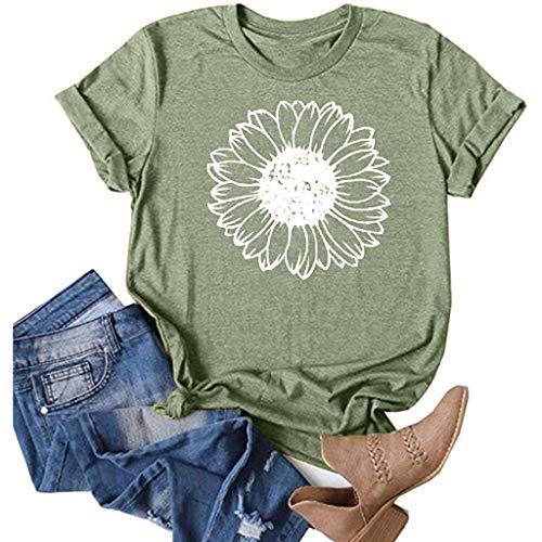 Sunflower Shirts for Women Plus Size Faith Tops Summer Short Sleeve Loose Casual T Shirt Junior Teen Girls Graphic Tees