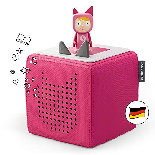 Toniebox Starterset in Pink: Toniebox + Kreativ-Tonie - Der Tragebare Lautsprecher für Tonies Hörfiguren und Kreativ Tonies - Für Kinder...
