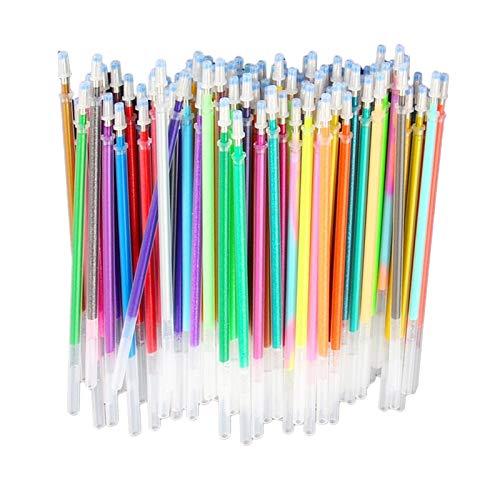 #N/a 36/60 / 100x Fluorescencia Brillo Dibujo Pluma de Gel Pinturas DIY Gel Tinta Pluma Recambio - 100Color