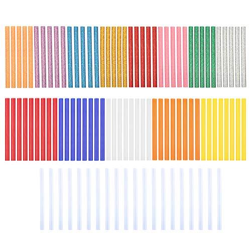 LAITER 100 PCS Colla a Caldo 7mm Colorati Decorazione DIY di Pasqua per Bambini Trasparente Glitter per Festa Artigianato Arte Creazione Gioielli Giocattoli Decorazioni