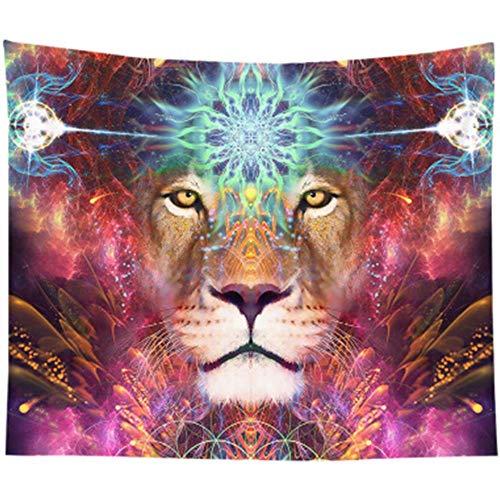 Cosanter Löwenbett Hängen Stoff Schlafzimmer Hintergrund Stoff Edle Magie PlusKaschmir 130x150cm Bunt