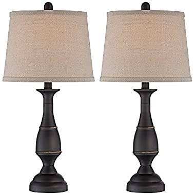 Ben Dark Bronze Metal Table Lamp Set of 2