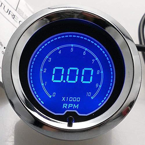 PYROJEWEL Panel de Instrumentos 2' (52mm) LCD Digital de 7 Color de la Pantalla del tacómetro RPM Gauge Medidor de Coche de Motor for los Motores, Barcos, automóviles modificados fascias