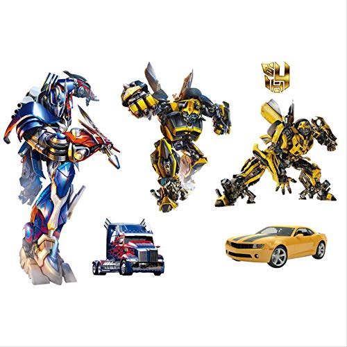 3D Through The Wall Transformers Creative Living Room Bedroom Nursery TV Background Wall Sticker Bumble Bee