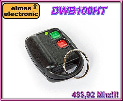 Elmes DWB100HT 2-kanal handsender 433.92MHz, Dynamic code system KEELOQ, 100% Original, Reichweite 100m!!!
