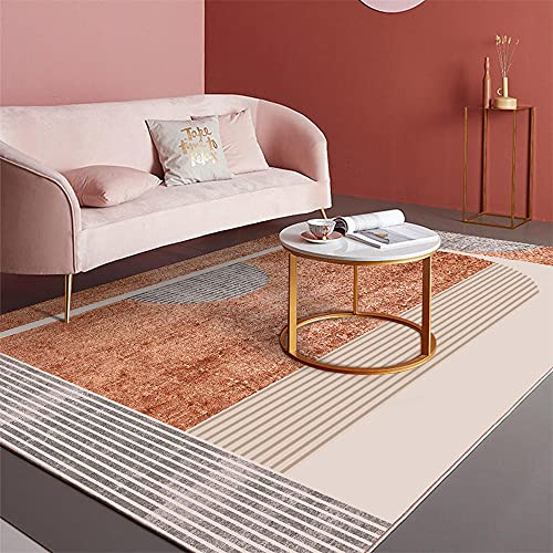La alfombras Alfombra Puerta Entrada casa Alfombra Antideslizante de diseño geométrico Rojo grisáceo Resistente a la decoloración Alfombra Infantil Juvenil alfombras de habitacion Infantil 180X280CM
