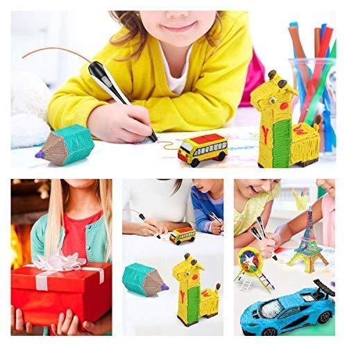 3D Stifte, für Kinder Erwachsene Anfänger mit PLA Filament 12 Farben -【Neueste Version 2019】Lovebay 3D Stifte Set mit PLA Farben 120 Fuß, 3d pen Starter Set als kreatives Geschenk, Bastler zu 3D kritzeleien, malen, basteln und drücken - 5