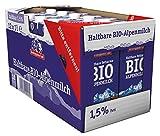 Berchtesgadener Land Bio Haltbare Bio-Alpenmilch 1.5% Fett, 12er Pack (12 x 1l) -