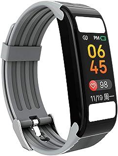 Rastreador de Ejercicios, Pantalla táctil Monitor de sueño de presión Arterial de frecuencia cardíaca Fitness Tracker IP67 Impermeable SMS Push para iOS Android Phone