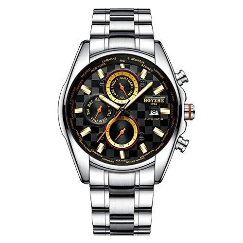 Reloj De Negocios De Moda Reloj MecáNico AutomáTico Luminoso Impermeable para Hombres De Negocios,A