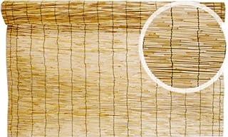 BOXLUM Arella Stuoia Cannetta Pelata Colore Naturale 4 Pezzi da cm 150x300
