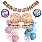Gender Reveal Party decoración, Baby Shower Deko Set, niños y niñas Globos Sexo abierto Partyausrüstung Baby Folienballon niño o niña decoración para Baby ducha