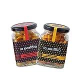 LA PASTORA | Producto Gourmet | Pack/ 2 Tarros de Almendras al Pimentón | Ahumado + Picante | 150 gr./ud. | Almendras Fritas | Fuente de Fósforo | Frutos Secos | Textura Crujiente | Bajo en Sal