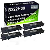 Paquete de 4 cartuchos de tóner negro compatibles B222H00 (alta capacidad) para impresoras Lexmark B2236DW, MB2236ADW, MB2236ADWE
