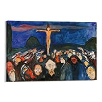 Edvard Munchエドヴァルドムンクゴルゴタ 絵画 ポスター 印刷 ウォールアート リビング ダイニングルーム ベッドルーム 壁飾り 壁の絵12×18inch(30×45cm)