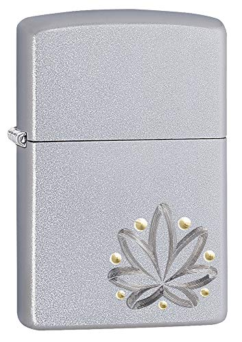 Zippo Weed 2TONED DESIGN-205-Zippo Collection 2019-60004120-39,95 €, Plata, smal