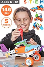 Toy Pal STEM Toys for 7 Year Olds Boys   Educational Kids Building Toys for Boys Toys Age 6 7 8   Best Toy Gifts for 6 7 8 9 10 Year Old Boys Gifts   146 Pc Engineering STEM Kit for Boy Toy Age 7